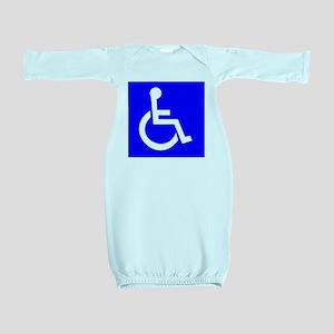 Handicap Sign Baby Gown