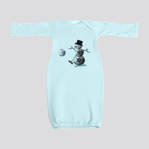 Soccer Christmas Snowman Baby Gown