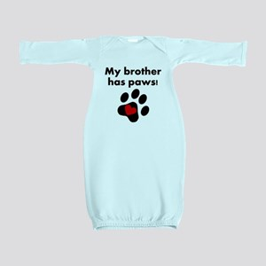 My Brother Has Paws Baby Gown