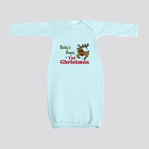 Personalize Babys 1st Christmas Baby Gown