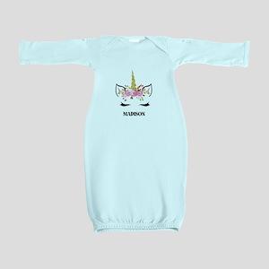 Unicorn Face Eyelashes Personalized Gift Baby Gown