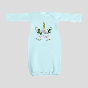 sleeping unicorn personalize Baby Gown