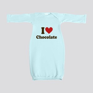 I Heart Chocolate Baby Gown
