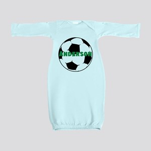 Personalized Soccer Ball Baby Gown