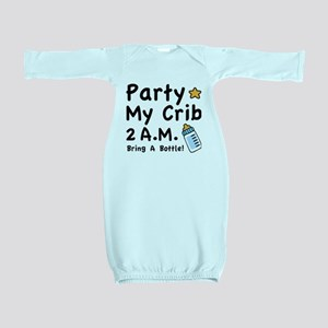 Party My Crib Baby Gown