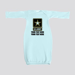 CUSTOM TEXT U.S. Army Baby Gown