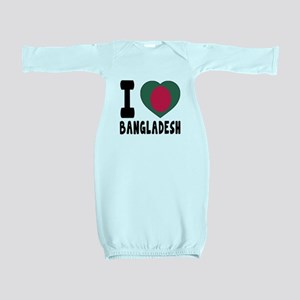 I Love Bangladesh Baby Gown