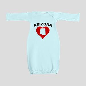 Arizona Heart Cutout Baby Gown