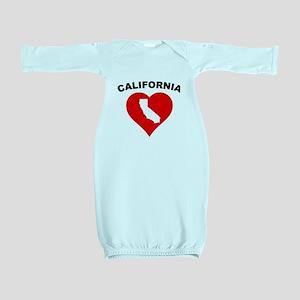California Heart Cutout Baby Gown