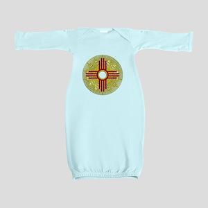 SUNBURST ZIA Baby Gown