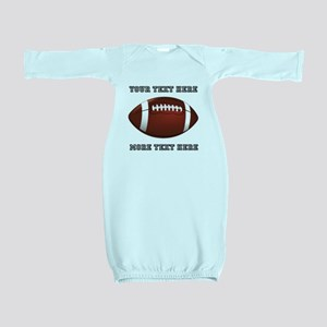 Personalized Football Baby Gown