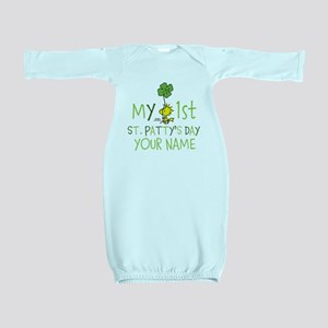 Peanuts - My 1st St. Patty's Baby Gown
