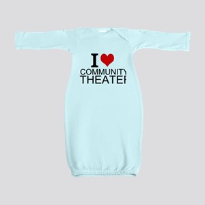 I Love Community Theater Baby Gown
