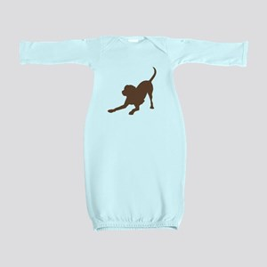 Lab 1 brown Baby Gown