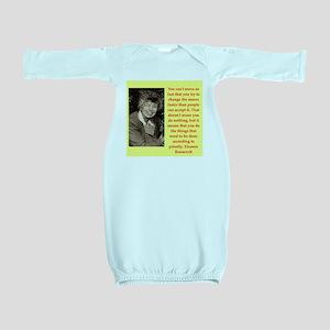 Eleanor Roosevelt quote Baby Gown