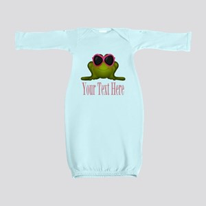 Frog in Pink Sunglasses Custom Baby Gown