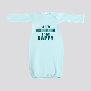 If I Am Cross Country Running Baby Gown