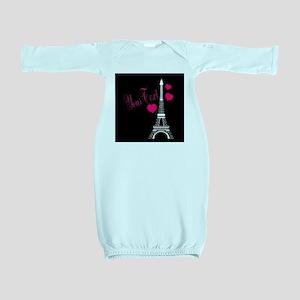 Paris France Eiffel Tower Baby Gown