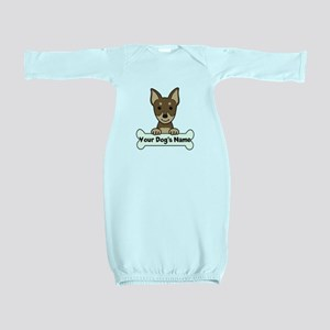 Personalized Min Pin Baby Gown