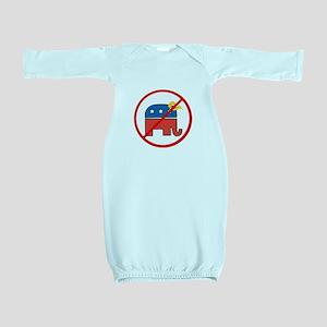 No Trump, Republican elephant Baby Gown