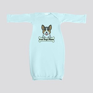 Personalized Corgi Baby Gown