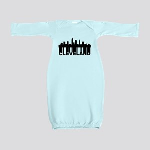 Roots Of Cleveland OH Skyline Baby Gown