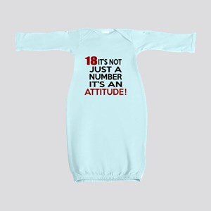 18 It Is Not Just a Number Birthday Desi Baby Gown
