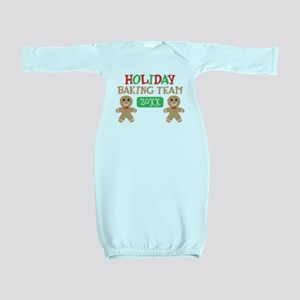 Holiday Baking Team Customizable Baby Gown