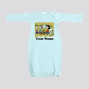 Peanuts Walking Personalized Baby Gown
