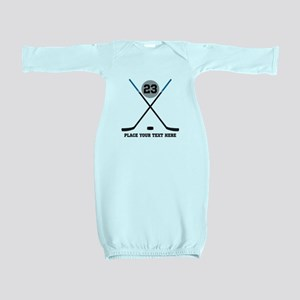 Ice Hockey Personalized Baby Gown