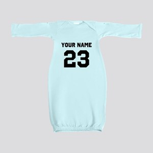 Customize sports jersey number Baby Gown