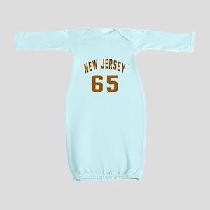 New Jersey 65 Birthday Designs Baby Gown