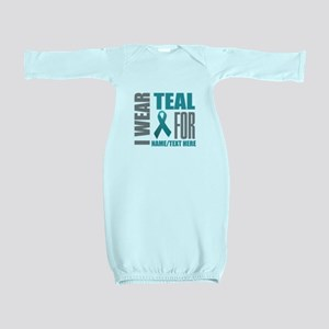 Teal Awareness Ribbon Customized Baby Gown