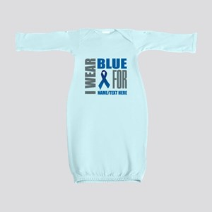 Blue Awareness Ribbon Customized Baby Gown