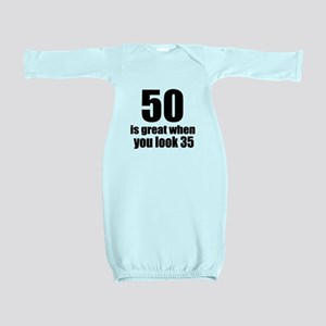 50 Is Great Birthday Designs Baby Gown