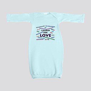 I March for Love Baby Gown