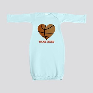 Basketball Love Personalized Baby Gown