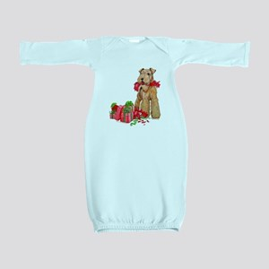 Airedale 11x11 Merry Christmas Baby Gown