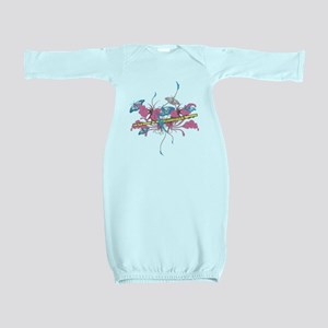 Butterfly Flute Baby Gown