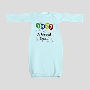 1927birthdayballoons Baby Gown