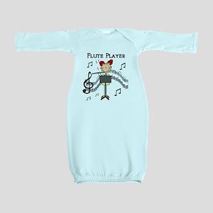 fluteplayertee Baby Gown