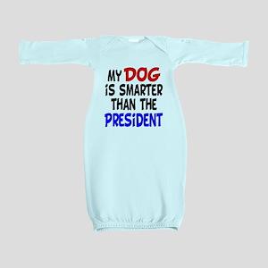 dog smarterz-1 Baby Gown