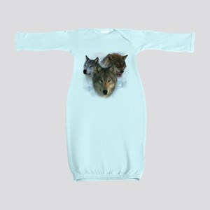 wolves Baby Gown