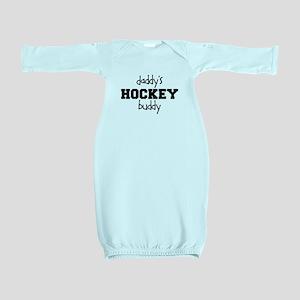 Daddy's Hockey Buddy Baby Gown