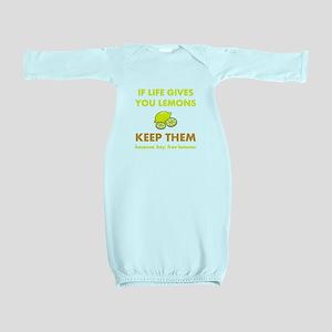 Keep Lemons Yellow Baby Gown