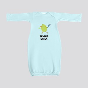 Tennis Chick Black Baby Gown
