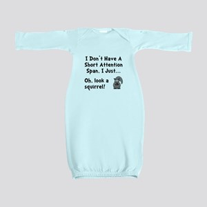 Short Attention Black Baby Gown