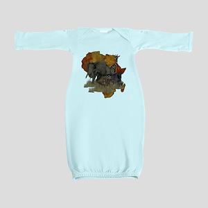 Safari Baby Gown