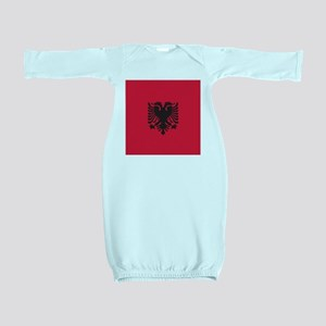 Albania Flag Baby Gown