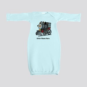 Personalized Train Engine Baby Gown